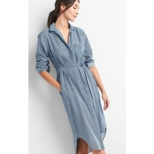 Gap Stripe Tencel Shirt Dress